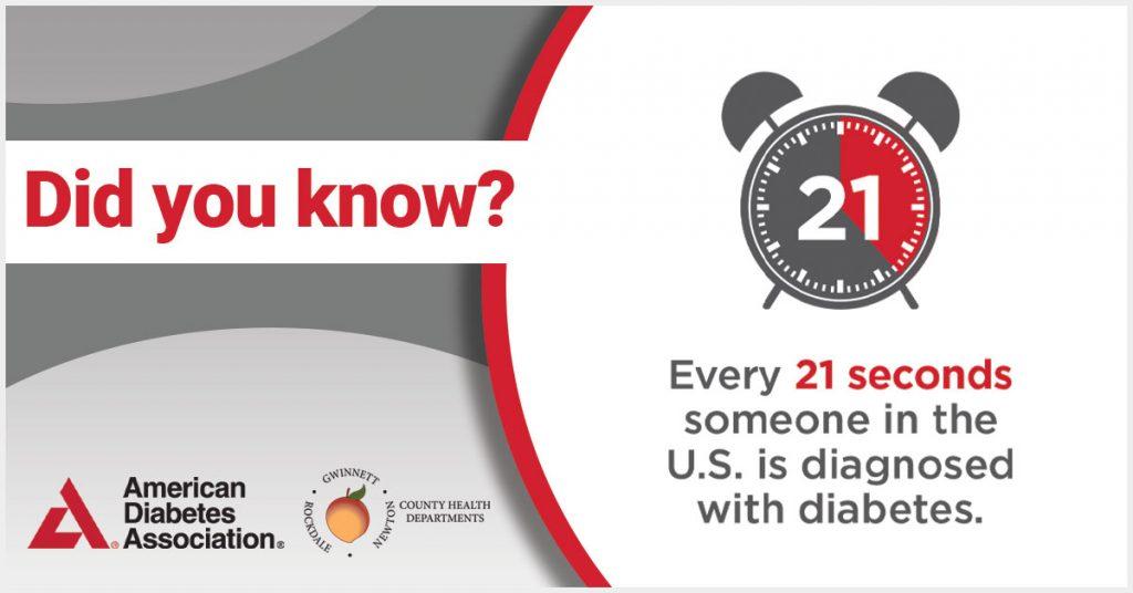 Cada 21 segundos a alguien en los EE. UU. Se le diagnostica diabetes.