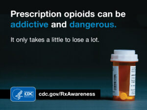 Prescription opioids can be addictive and dangerous. It only takes a little to lose a lot.