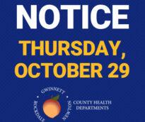 Notice Thursday, October 29