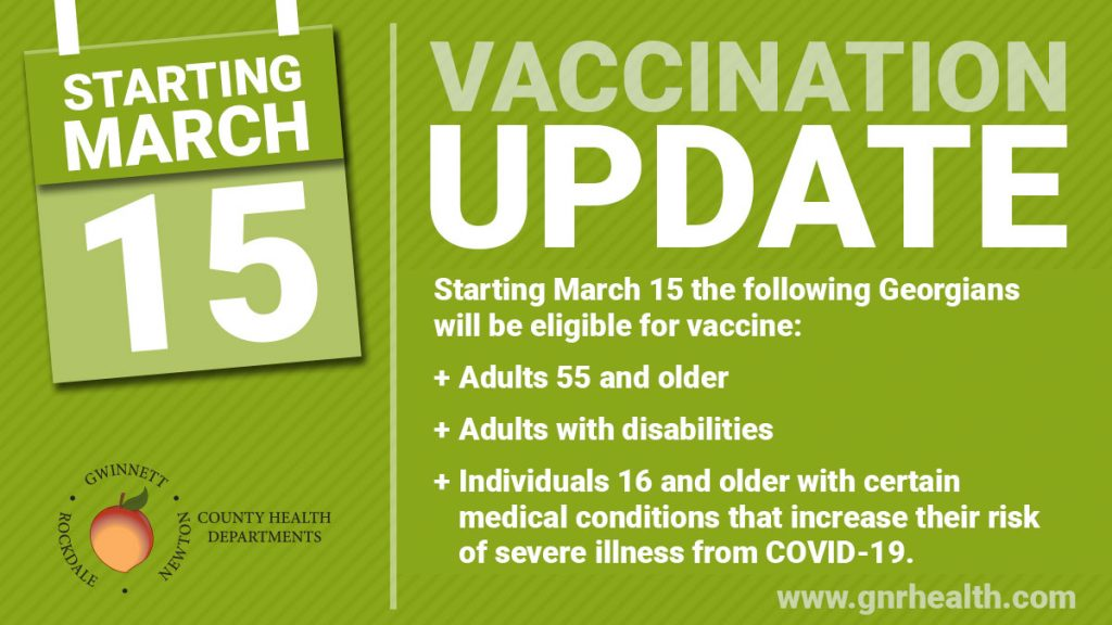 COVID-19 Vaccine Eligibility Expands March 15