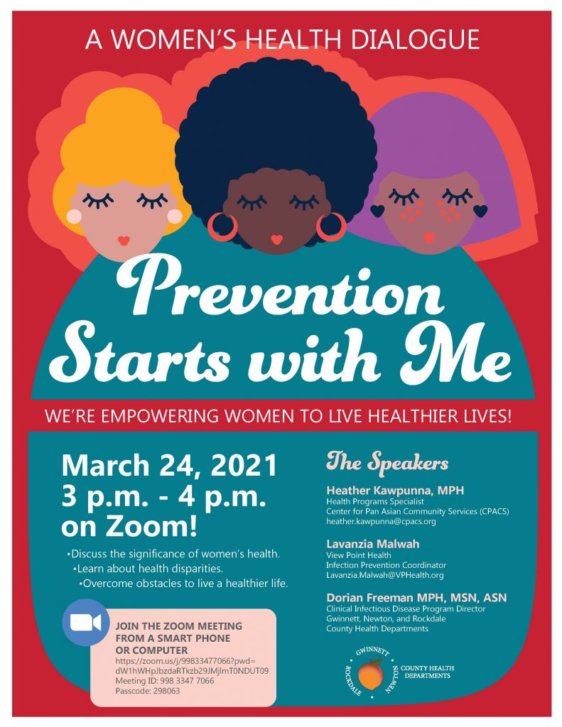 Prevention Starts with Me Flyer