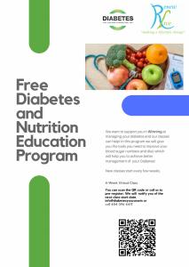 Chương trình giáo dục dinh dưỡng và bệnh tiểu đường miễn phí