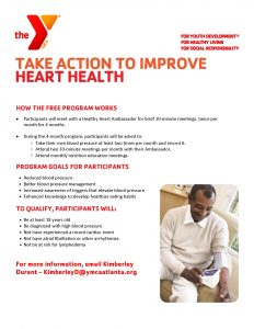 Take action to improve heart health. Flyer