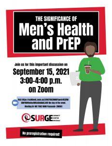 Men's Health and PrEP flyer