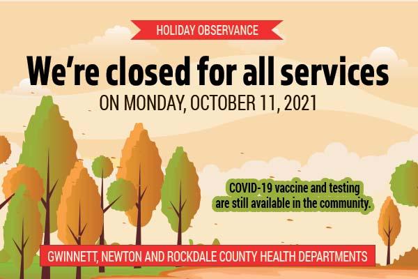 Cerrado el lunes 11 de octubre por observancia de los días festivos.